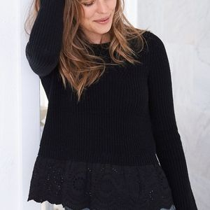 5/$25 aerie Lace Bottom Sweater